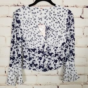 Free People Tops - Free People Lady Bohemian Printed Blouse